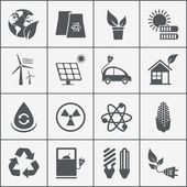 Set of eco energy icons — Stock Vector