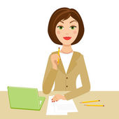 Secretaria oficina — Vector de stock