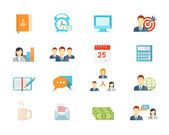 Office work and management icons — Stock Vector