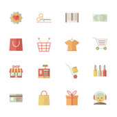 Set of supermarket services and shopping icons — Stock Vector