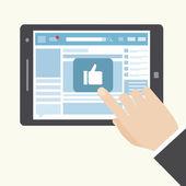 Social network like icon — Stock Vector