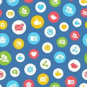 Social network seamless pattern — Stock Vector