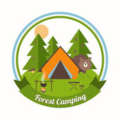 Forest Camping emblem — Stock Vector
