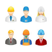 Vector 3d workers icons — Stock Vector