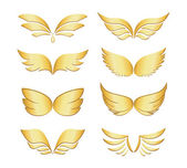 Golden wings — Stock Vector