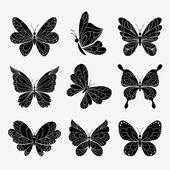 Farfalle vettoriali — Vettoriale Stock