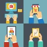 Покупка в Интернете — Cтоковый вектор