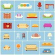 Set of furniture icons — Stock Vector #46706595