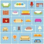 套家具图标 — 图库矢量图片