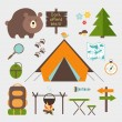 Vector icons forest camping set — Stock Vector #46708213