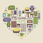 Sweet Home concept — Stock Vector