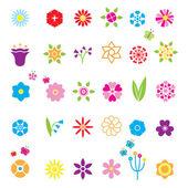 Flower Icons Set — Stock Vector