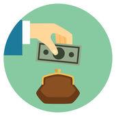 Save Money Icon — Stock Vector