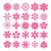 Vector set of flowers — Stock Vector