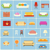 Set of furniture icons — Stock Vector