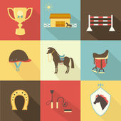 Horse and dressage icons — Stock Vector