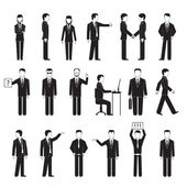 Business peoples silhouettes — Stock Vector
