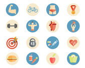 Sport and nutrition icons — Stock Vector