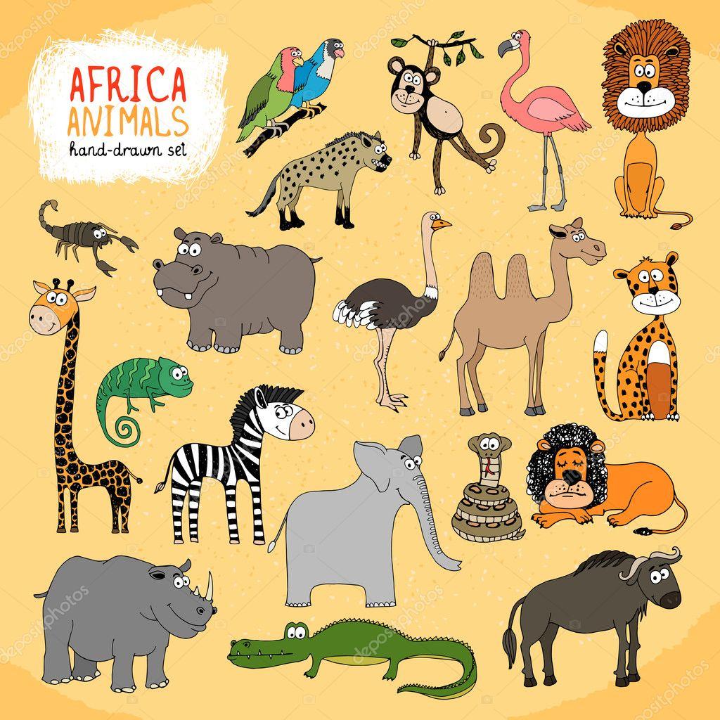 Как рисовать животных из африки