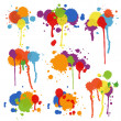 Set of multicolored stains and blots — Stock Vector #46999781