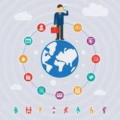 Business around the world — Stock Vector