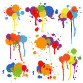 Set of multicolored stains and blots — Stock Vector