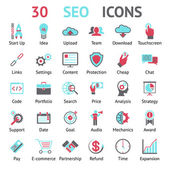 Vector 30 SEO icons — Stock Vector