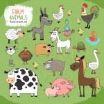 Set of hand-drawn farm animals — Stock Vector #47362543
