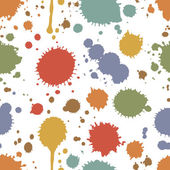 Seamless pattern of colorful stains and splashes — Stock Vector