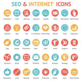 Large set of SEO and internet icons — Stock Vector