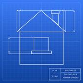 Planta de um projeto de casa — Vetor de Stock