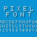 Pixel vector font — Stock Vector #47380767