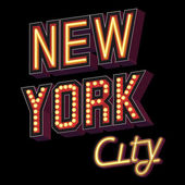 New York City lettering — Stock Vector