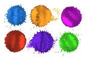 Vector colored spots — Stock Vector