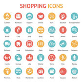 Purchase, payment and delivery icons — Stock Vector