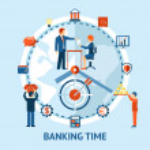 pojęcie czasu i pieniędzy — Wektor stockowy