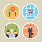 Vector human resources icons — Stock Vector