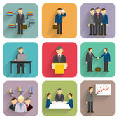 Vector business people — Stock Vector