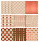 Stylish seamless patterns — Stock Vector