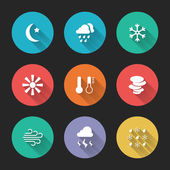 Set of meteorological icons — Stock Vector