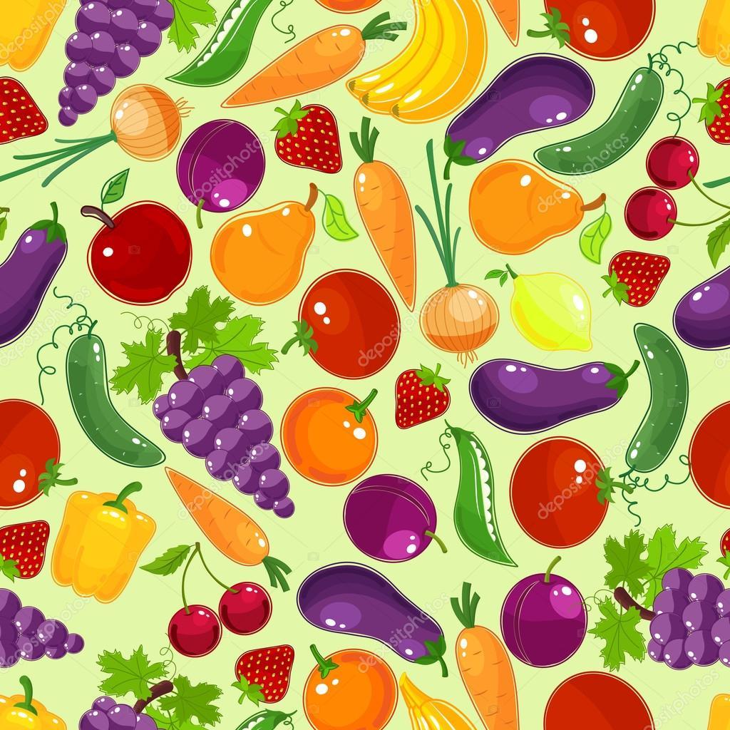 Modello Colorato Frutta E Verdura Senza Soluzione Di Continuità Con  #C49A07 1024 1024 Piastrelle Cucina Con Disegni Frutta