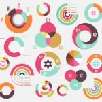Circle charts — Stock Vector #48583519