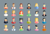 Vector large set of avatars — Stock Vector