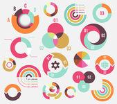 Circle charts — Stock Vector