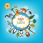 Save The Earth concept illustration — Stock Vector