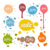 Discount and Sale Labels — Stockvector