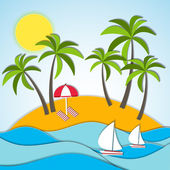 Vector illustration of a summer vacation — Stock vektor