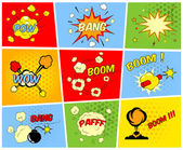 Comic boom or blast explosions — Stock Vector