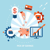 Pick of savings — Stock Vector