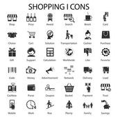 Shopping and sales icons — Stock Vector